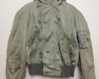 Vintage US Military N-2B Alpha Industries Large Size Flight Bomber Jacket