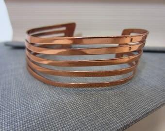Vintage Renoir Signed Modernist Copper Cuff Bracelet