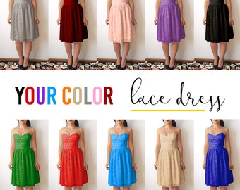 Choose color Lace Dress, bridesmaid dresses, Bridesmaid dress, colorful lace dress, lace dress, elegan lace dresses, custom dress