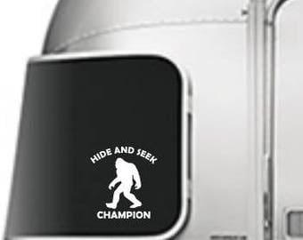 Hide And Seek Champion Sasquatch decal - car, window, laptop, tablet decal - PNW, Midwest decal