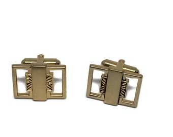 Mid Century Gold Tone Vintage Cufflinks