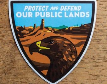 Environmental Conservation Sticker, Bears Ears Vinyl Sticker