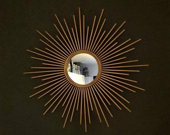 "Sunburst Mirror, Gold, Silver, Elegant Home Decor, Feng Shui, 15"",20"",24"" & 30"""