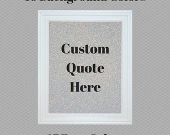 Quote Wall Art framed quote | etsy