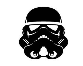 Star Wars Stormtrooper Helmet Vinyl Decal Sticker