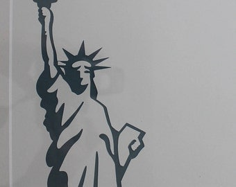 Statue of Liberty Wall Hanging (blue with white background)