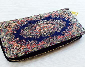 Vegan wallet women, Unique wallet, Unique women's wallet,Ethnic wallet, Tribal wallet, tapestry wallet,black hippie wallet, bohemian wallet,