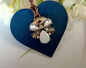Blue Hanging Heart Gift Mothers Day Keepsake