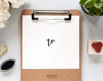 Hand Lettered To Rubber Stamp -  Calligraphy Stamp - Packaging Stamp - To Stamp