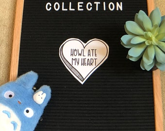 Howl Ate My Heart // Howl's Moving Castle Studio Ghibli Collection 4x6 Sticker