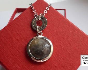 Labradorite necklace, 925 sterling silver labradorite necklace, labradorite pendant, labradorite jewelry, gift for her, gemstones