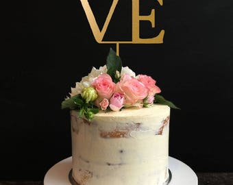 Love Cake Topper, Love Wedding Cake Topper, Philadelphia Love Cake Topper, Wedding, Anniversary, Bridal Shower, Engagement Party Cake Topper