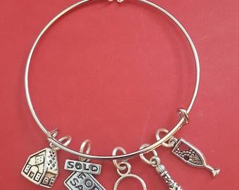 Realtor Themed Charm Bracelet