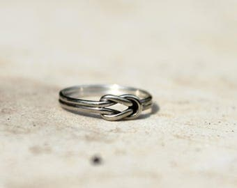 Pinky ring, purity ring, love knot ring, minimalist ring, Dainty ring, promise ring for her, small silver ring, personalized gift for her,:)