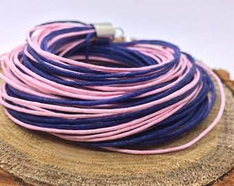 Cord Bracelet, Choker Necklace, Two in One, Organic Bracelet, Waxed Cotton Bracelet, Bundle Bracelet, Multicolored Bracelet