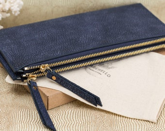 Leather Womens wallet ladies wallets lady wallet clutch wallet zipper wallet wallet leather wallet leather purse womens wallet navy blue