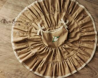 Girl dress, linen dress, embroidery dress, baby dress, pinafore