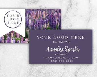Essential Oils Business Cards // YL Business Cards // Lavender and Purple Business Cards // 20% OFF