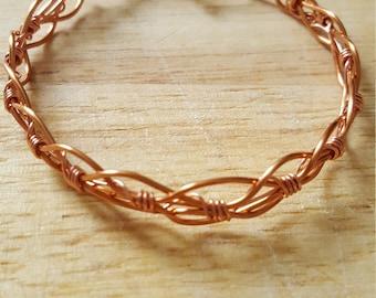 Copper wire bracelet