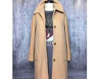 VINTAGE Wool Blend Coat Light Weight Long Jacket
