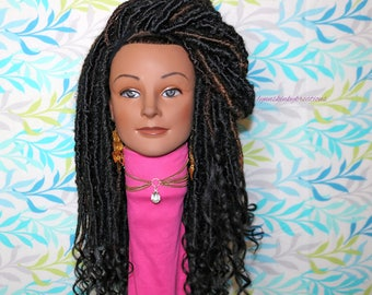 "READY TO SHIP  //Synthetic crochet wig "" Uniquely goddess locs"""