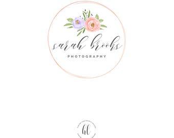 Premade Business Logo-Photography Logo-Watercolor Logo Design
