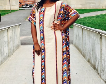 Kola Tribal Maxi Dress (African hand made)