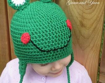 Crochet Frog Hat, Boy