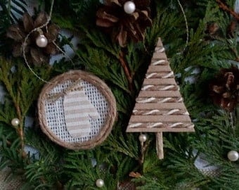 Rustic Christmas Decorations, Rustic Christmas Tree Ornaments, Christmas Decorations, Christmas Tree, Farmhouse Decor