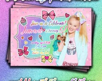 JOJO SIWA printable INVITATION,JoJo Siwa birthday Party invites,JoJo style invitations,Cute girly printable invite,bow style invitation,diy