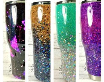 Glitter Tumbler//Stainless Steel Tumbler//HOGG 30oz 20oz Tumbler//Glitter Dipped//Personalized Tumbler//Custom Tumbler//Yeti Like Cup