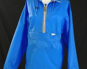 Vintage 1980's/90's K-Way Pack-Able Water Proof Jacket/ Retro Hip Hop Street Wear