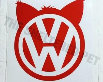Meow Wagon Vinyl Sticker