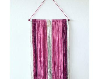 Gold Detail Wall Hanging in Pink