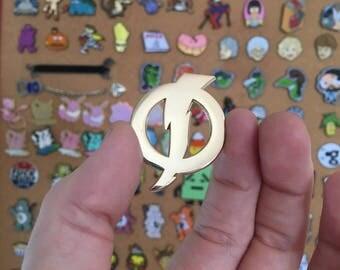 Static Shock logo pin