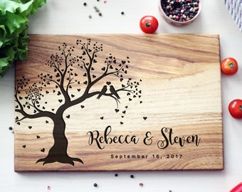 Wedding Gift Cutting Board Bridal Shower Gift Idea For Couple Custom Wedding Gift Unique wedding Gifts for Husband Gift for Bride and Groom