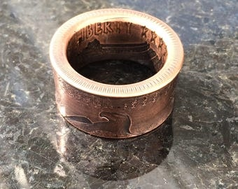 In God we trust coin ring