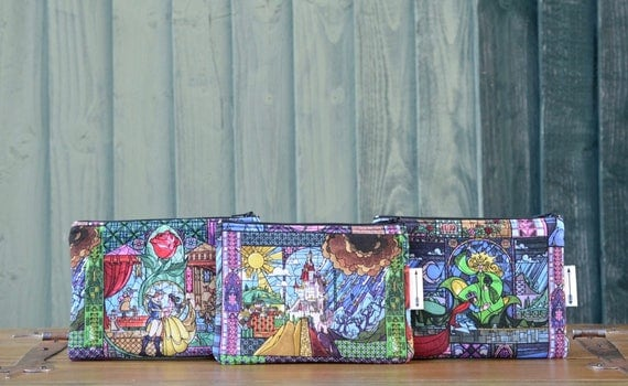 Beauty and the Beast zipped pouch