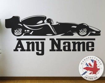 Personalised Formula 1 Wall Decal Any Name Race Car Wall Decal, Wall Sticker,  Nursery