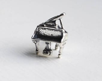Necklace Charm, Piano Charm, Music Charm, Sterling Silver Charm, Sterling Silver Necklace Charm, Silver Necklace Charm, Piano Teacher Charm