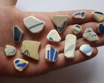 15 pieces of French pottery / french sea pottery