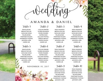 Wedding Seating Chart, Poster wedding, Seating Chart, Wedding Table seating, Decor Signs , Wedding decor, Signs, Decor, Find Your Seat, SC83