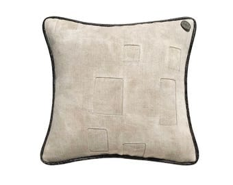 "Antique German Grain Sack Pillow from the early 1900s -  14"" x 14"""