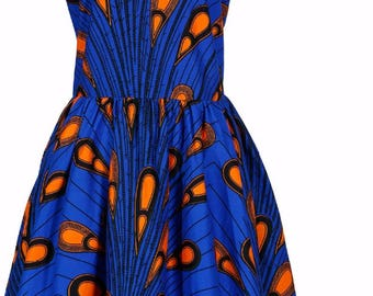 Sally Dress in blue