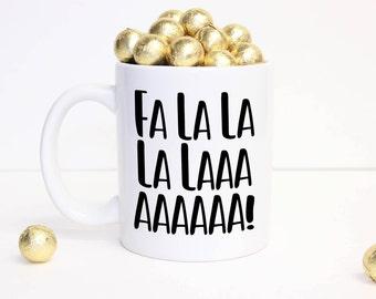Holiday Mugs,Christmas Mug, Stocking Stuffer, Falalala Mug, Christmas Coffee Mug, Stocking Stuffer, Christmas Decor, Holiday Decor,Xmas Mug