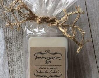 Farmhouse Raspberry Jam Soy Wax Melt/ Scented Soy Wax Melt/ Farmhouse Bakery All Natural Wax Melt