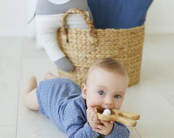 Wooden toy, Wooden teether, Baby shower gift, Teething toy, Baby teether, Baby gift, Baby toy, Teether, Baby shower, Organic teether