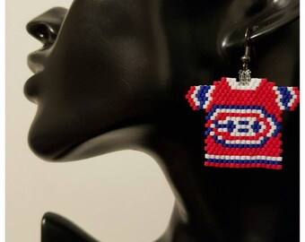 Montreal Canadiens Jersey Earrings
