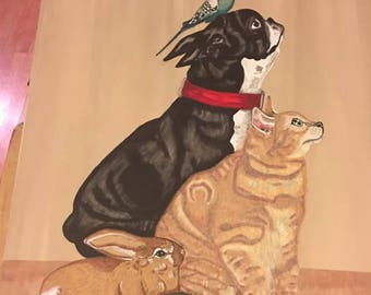 Pet Portraits Painting GinaMia Pets OKC Art Artist