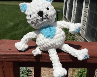 Plush Cat; crocheted kitty, soft plush animal, soft toy